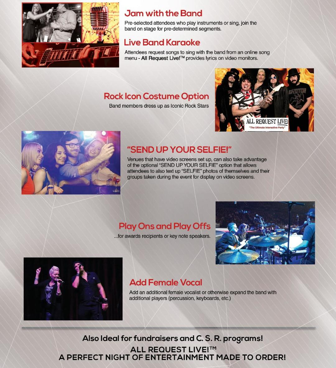 Book the Best Cover Band in Las Vegas | All Request Live
